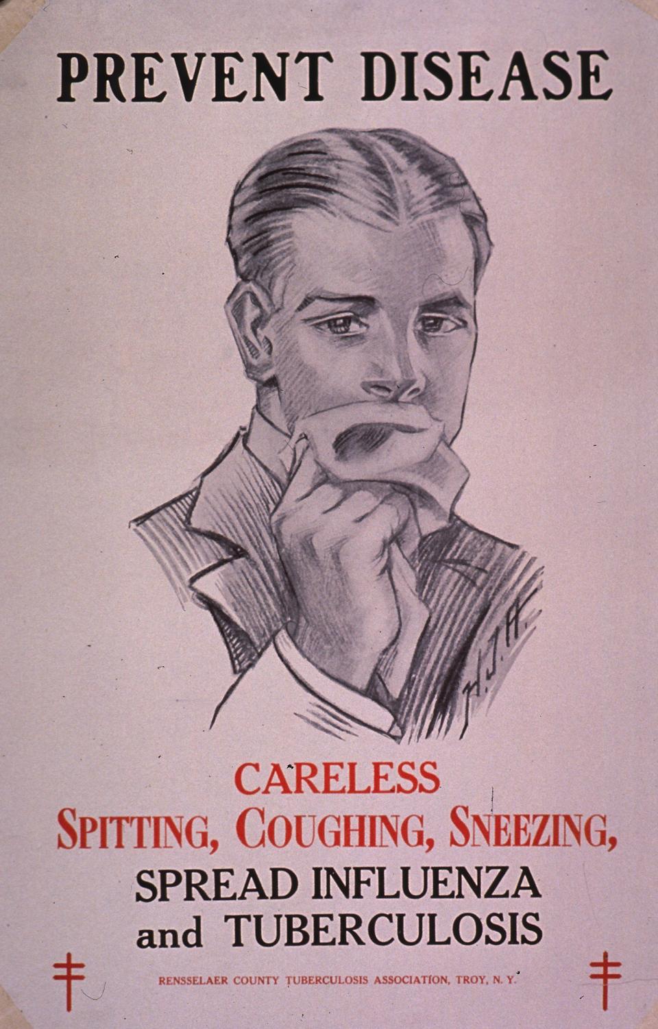 Tuberculosis Poster, ca. 1900.