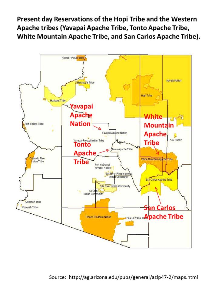 Map Of Arizona Indian Tribes.Hopi Southwest Indians