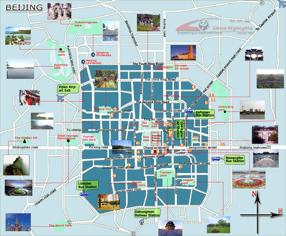 Maps of Beijing – Beijing Travel Map