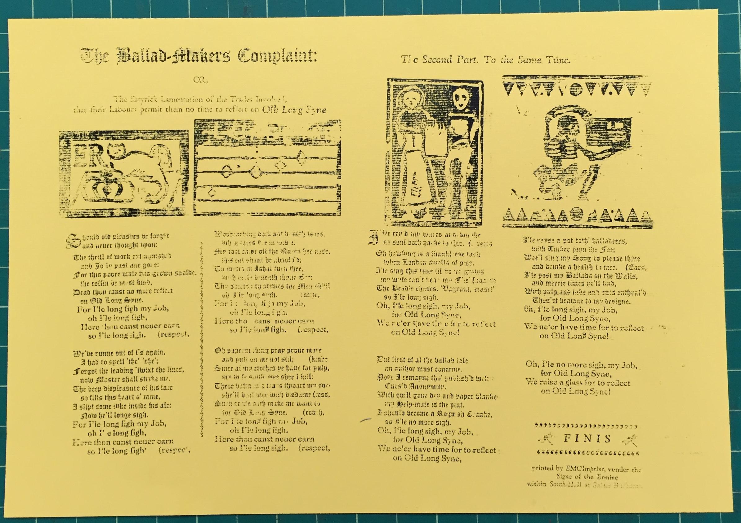 Creating the Woodcut in Early Modern Broadside Ballads