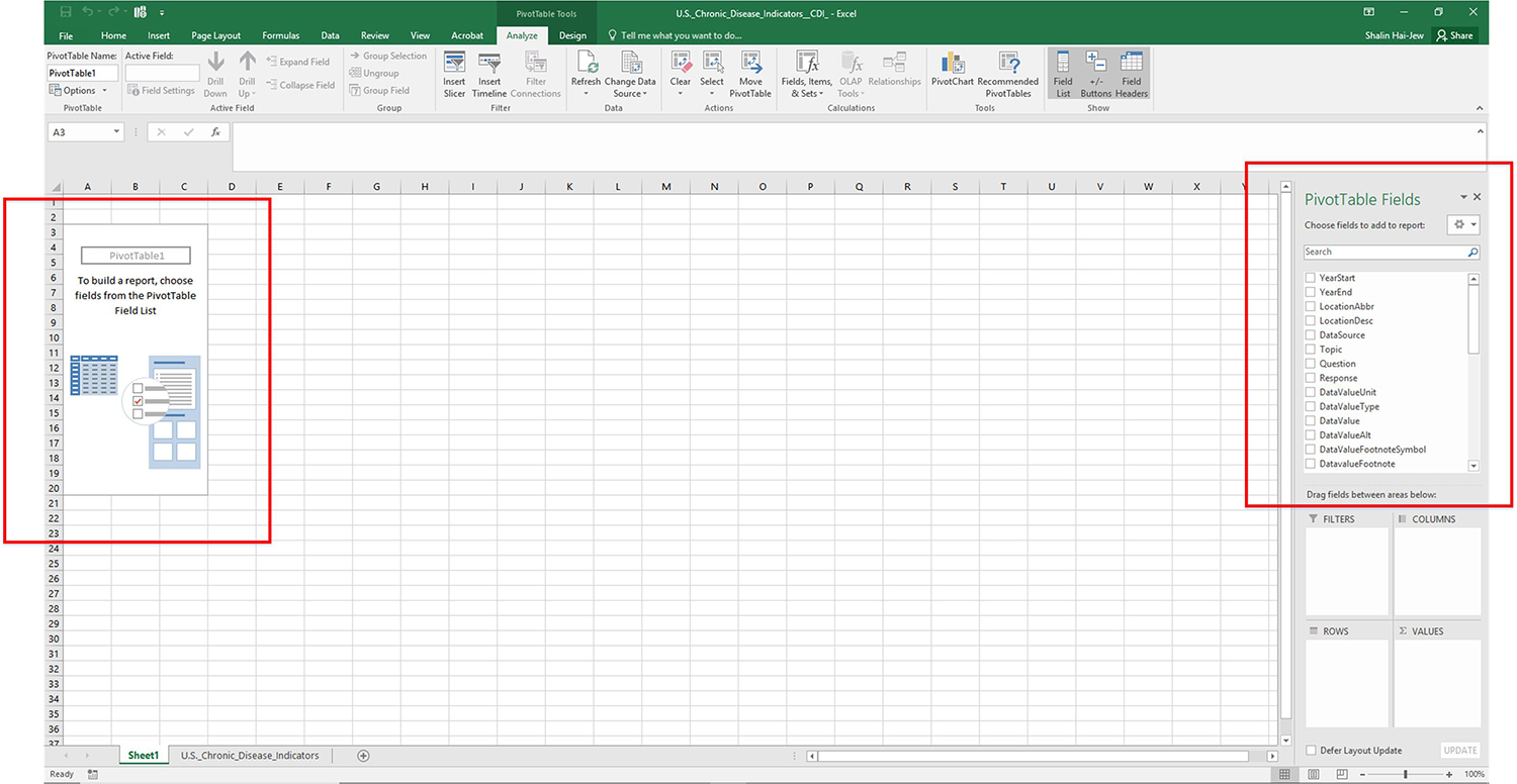 Creating A Simple Pivottable In Excel 2016