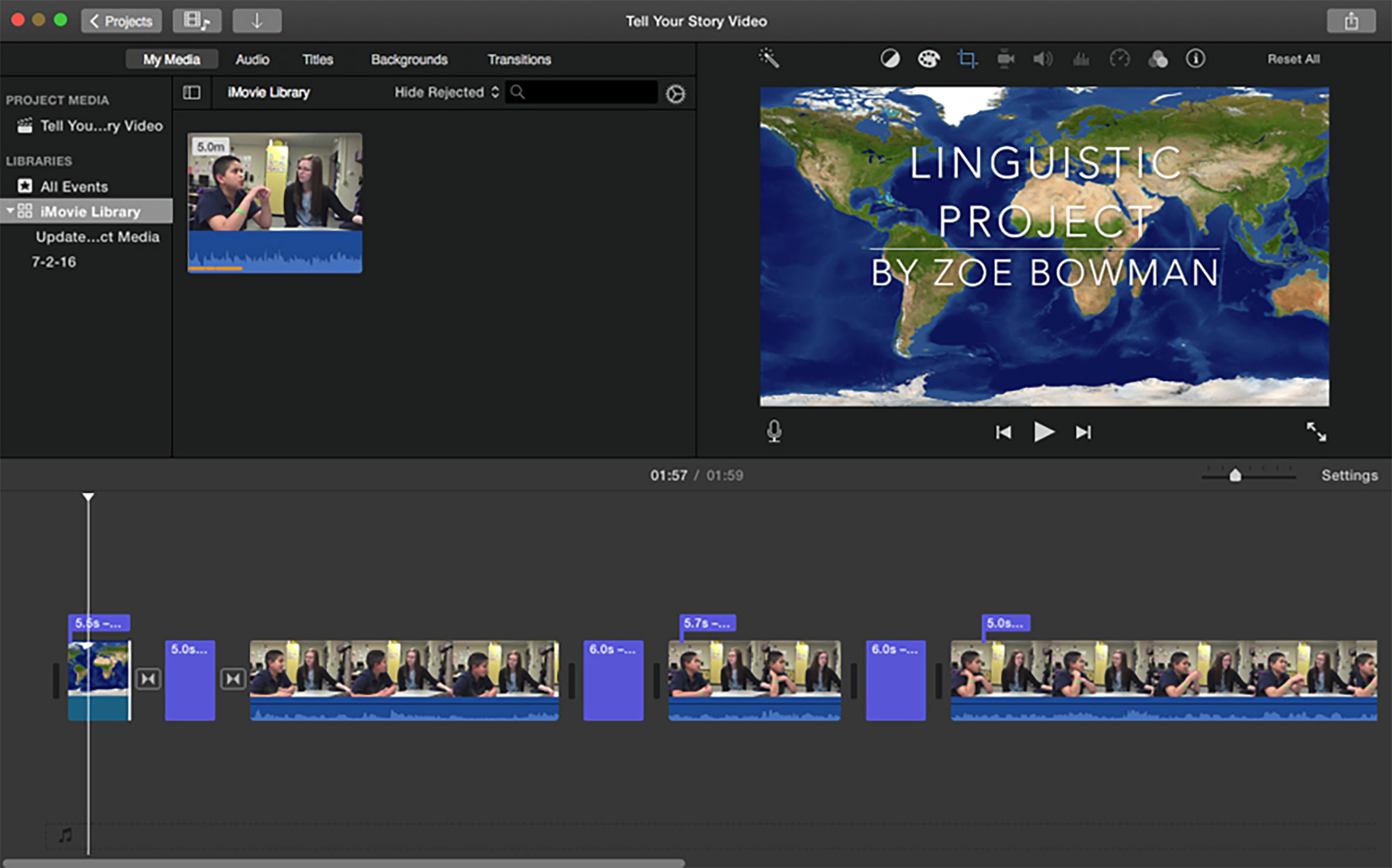 Using iMovie to Inspire Creative Top-Notch Projects in the