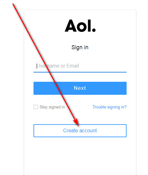 AOL mail sign up / create AOL account
