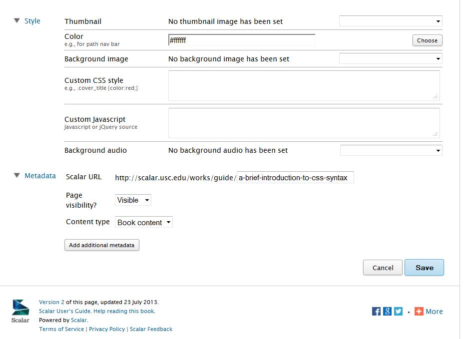Adding Additional Metadata