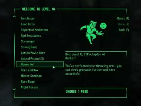 fallout 3 assign skill points