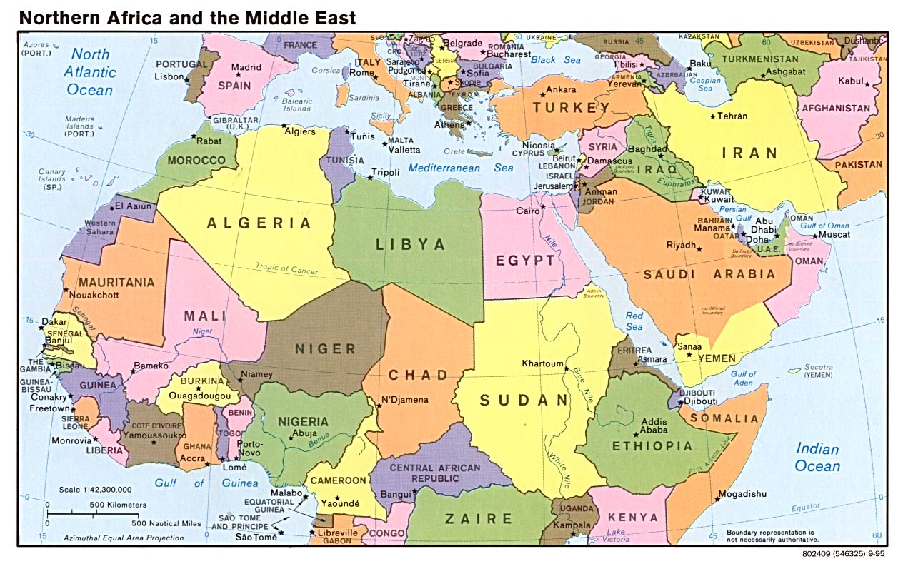 mediamap of modern middle east . modern map of the middle east