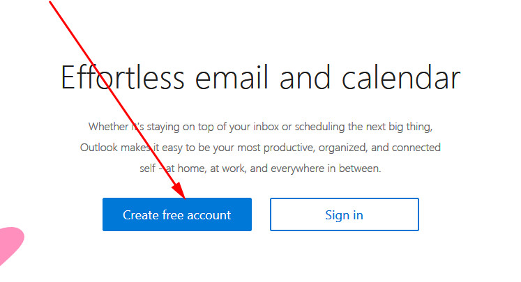 Hotmail sign up from PC