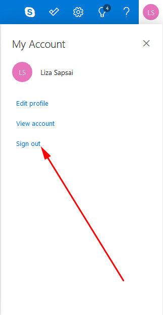 Hotmail sign out from PC