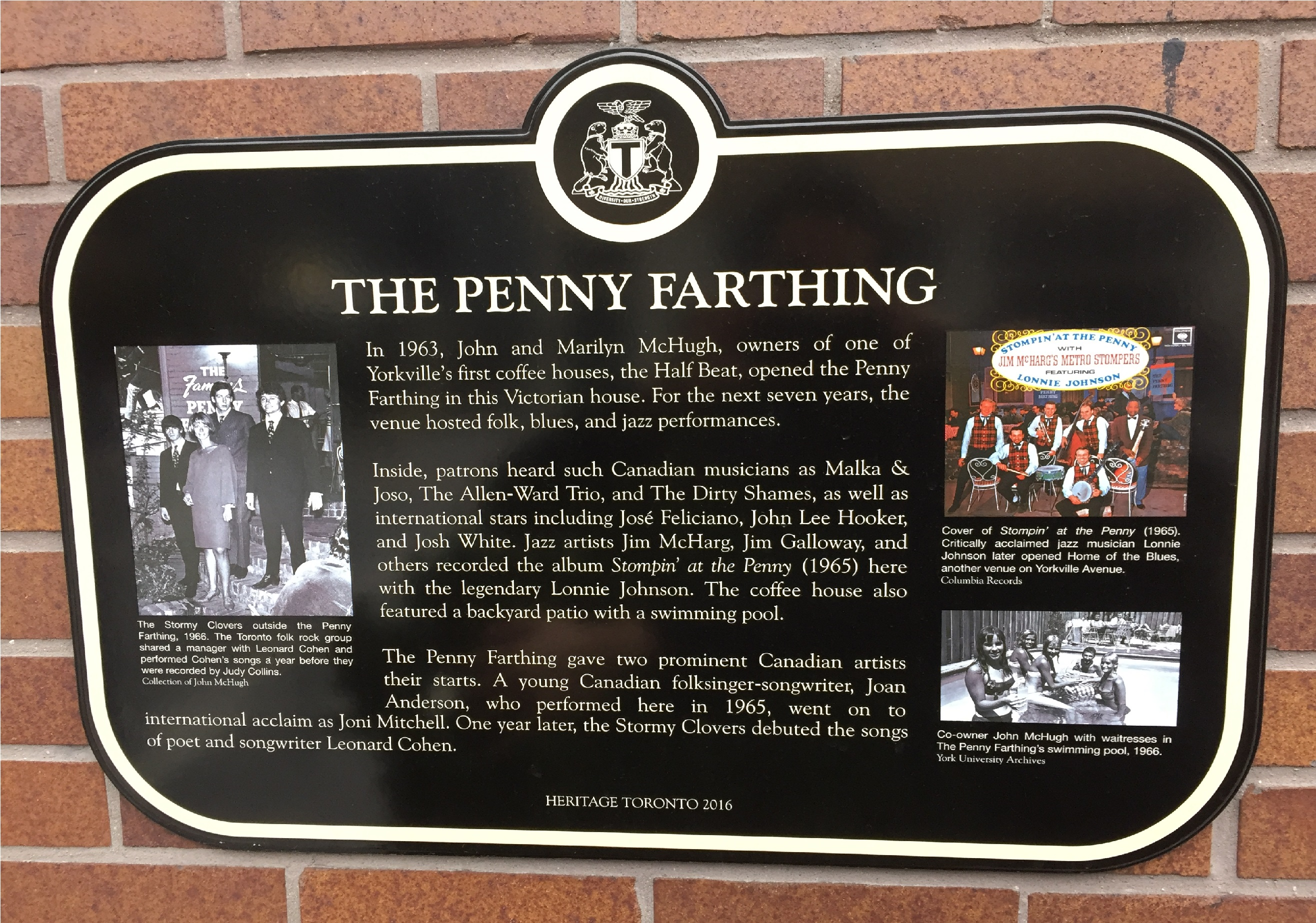 The Penny Farthing Heritage Toronto Plaque