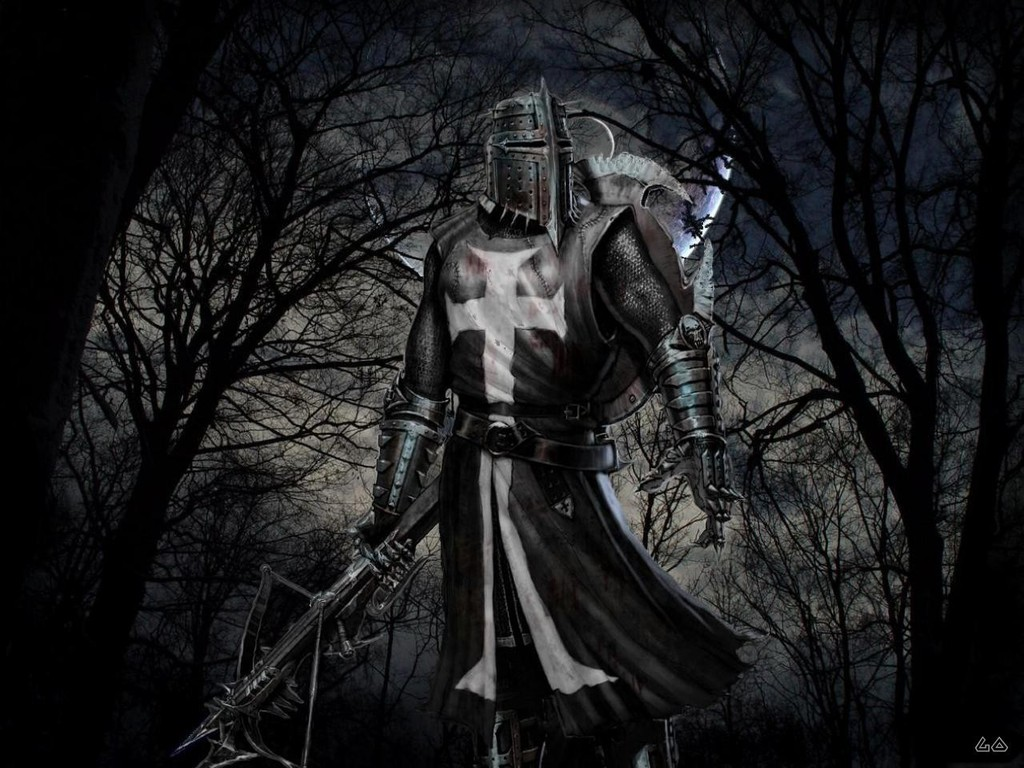 Templar knight in the dark for The knights templat