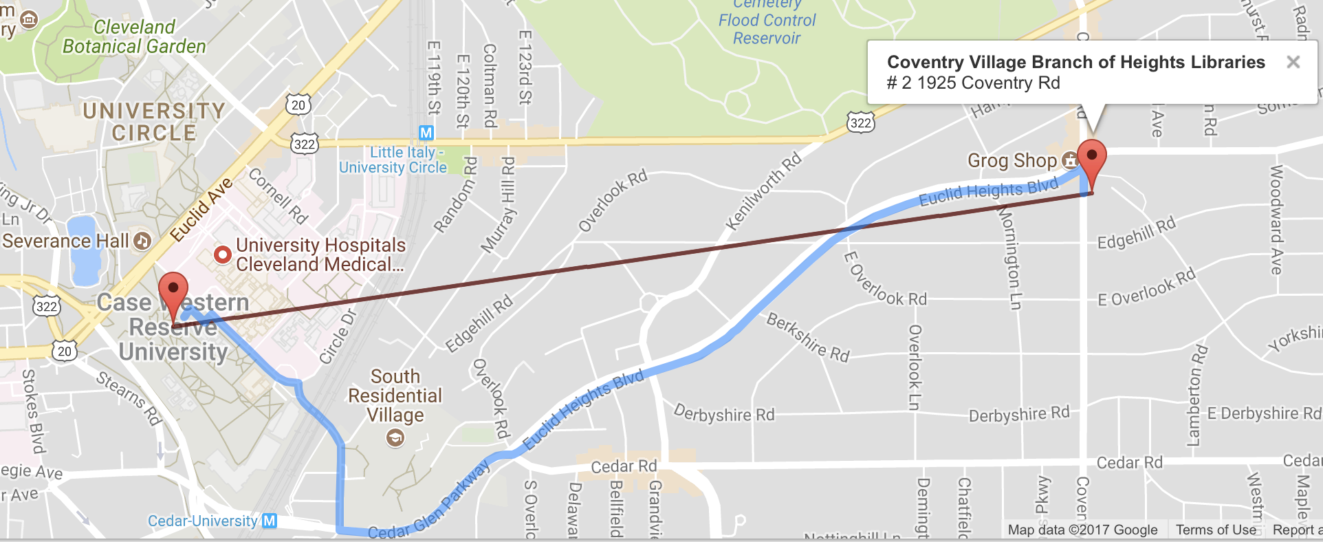 Map Of Little Italy And Coventry