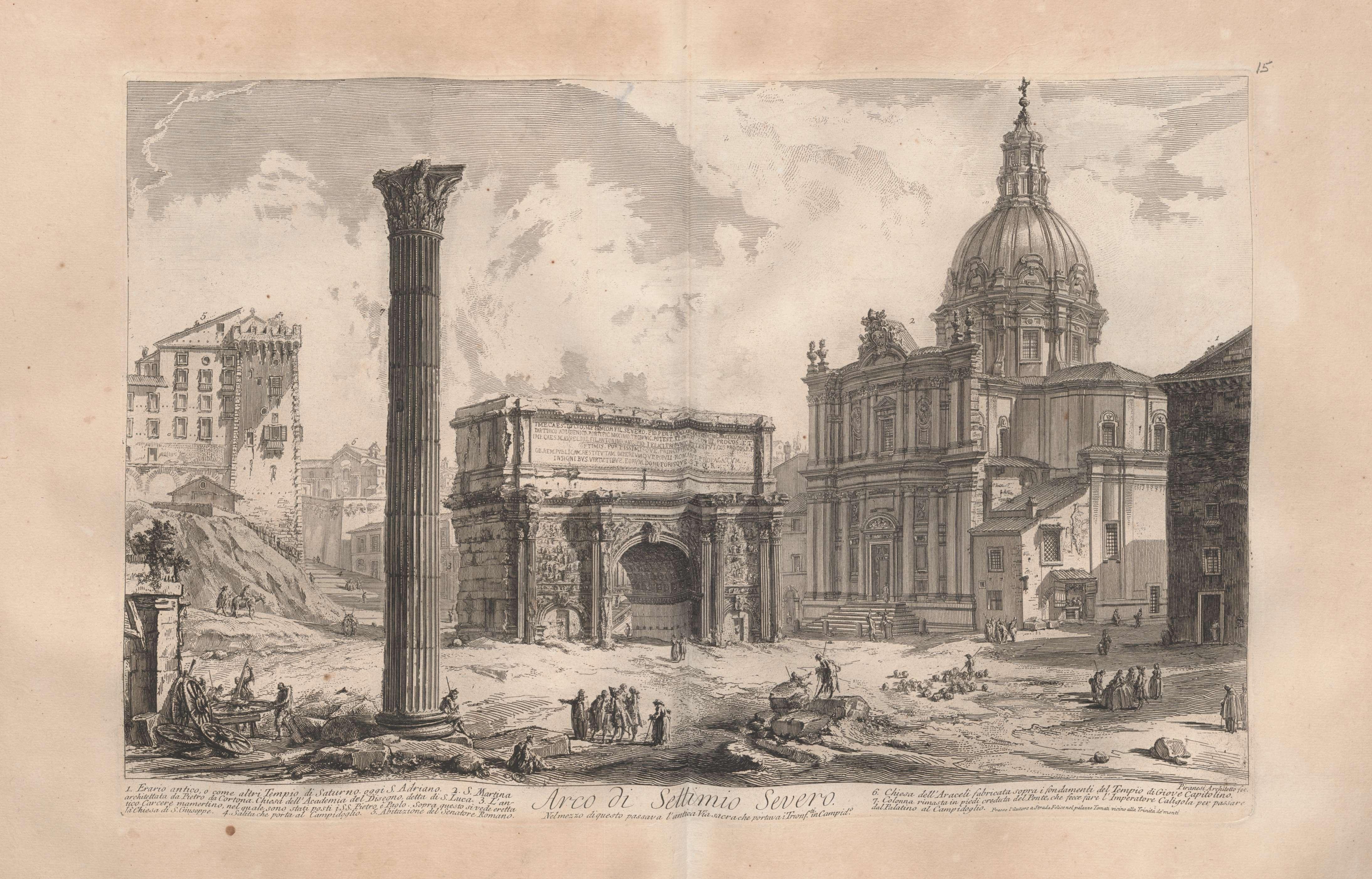 Arco Per Porta arco di settimio severo, from views of rome (vol 17, image 97)