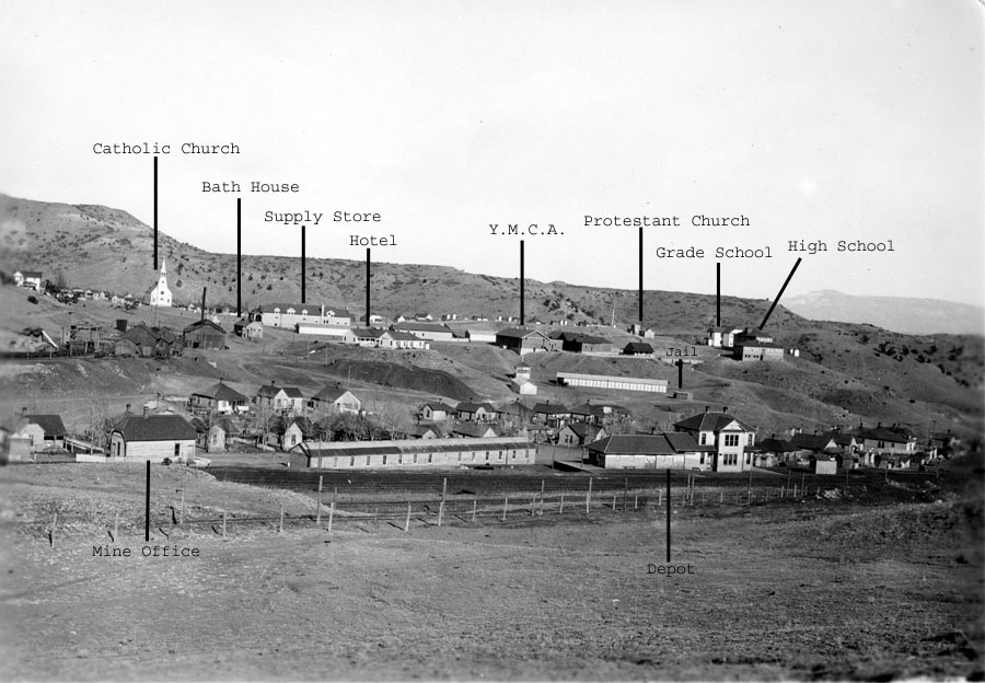 View of Primero, with the camera facing west.  Image courtesy of Steelworks Center Archives.