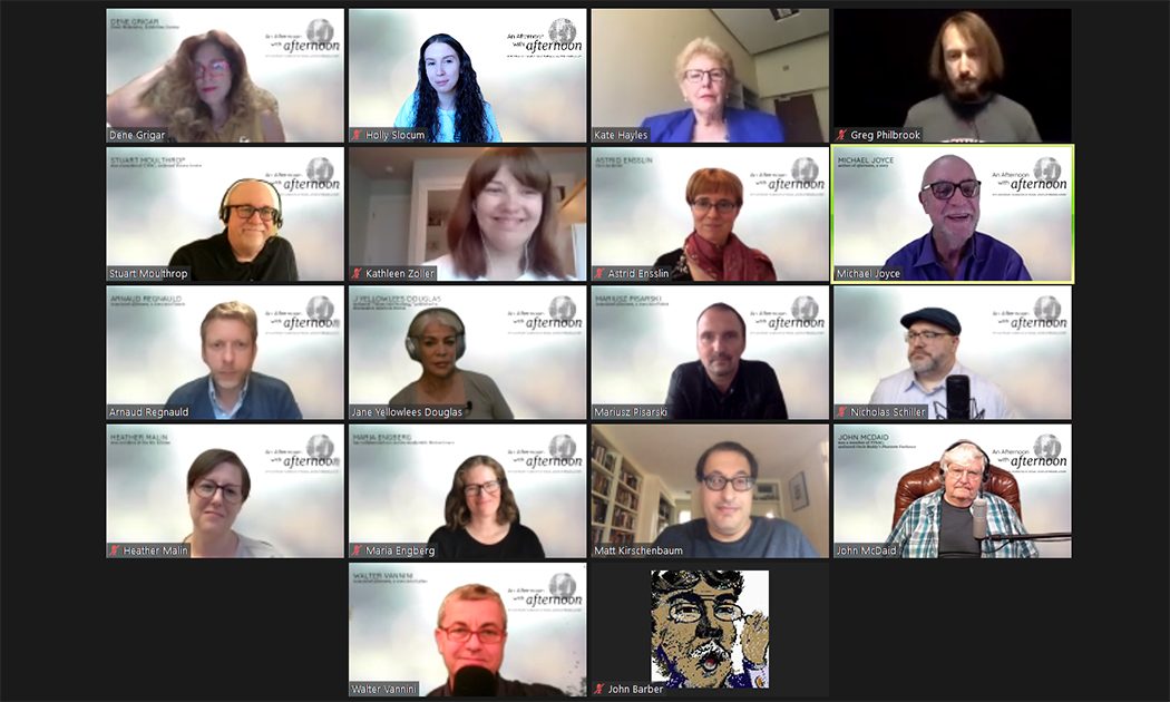 A screenshot of the group of event contributors on Zoom