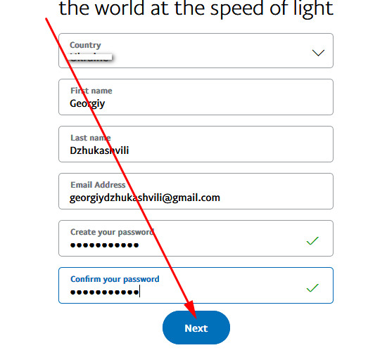 Paypal sign up create account from pc