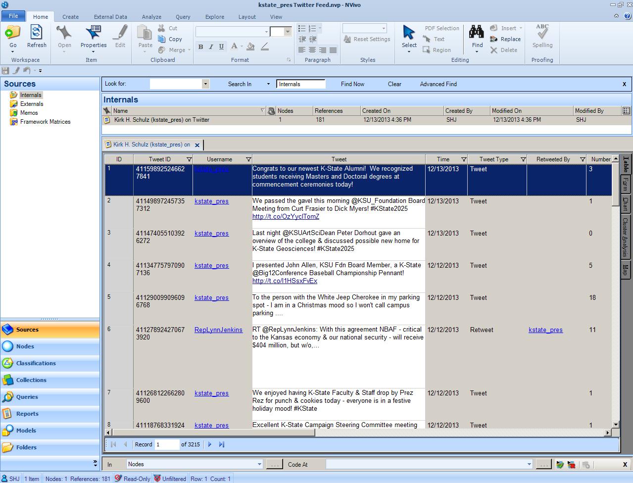 NVivo qualitative data analysis software